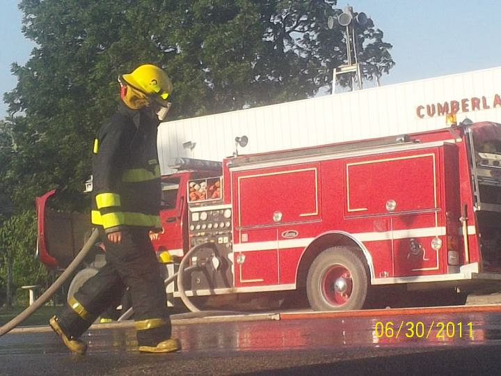 Fire Fighter and Fire Truck