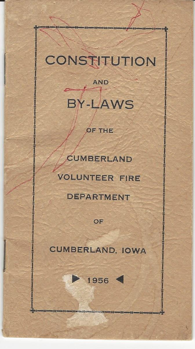 Cumberland Volunteer Fire Department | City of Cumberland, Iowa