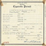 Permit to Sell Cigarettes, Joyce Cafe 1980