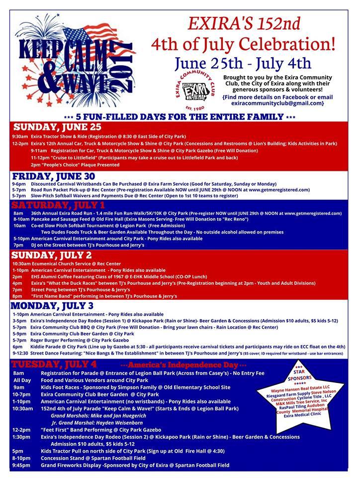 July 4th Exira